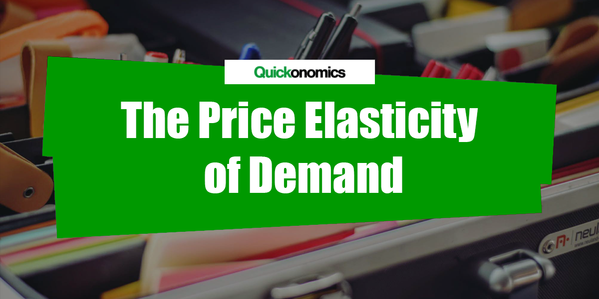elasticity of demand essay Free price elasticity papers, essays, and research papers.