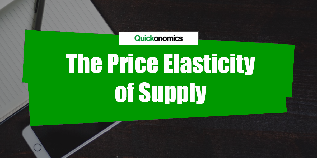 elasticity of supply 3 51 the price elasticity of demand the percentage change in price calculated by the midpoint method is the same for a price rise and a price fall.