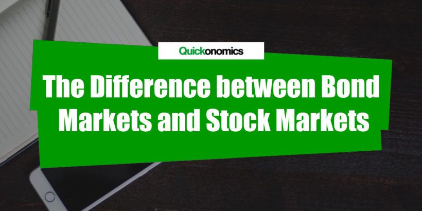 The Difference between Bond Markets and Stock Markets