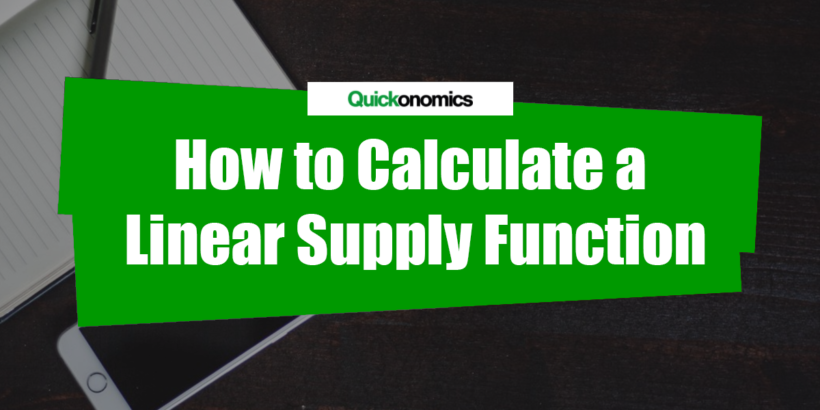 How to calculate a linear supply function