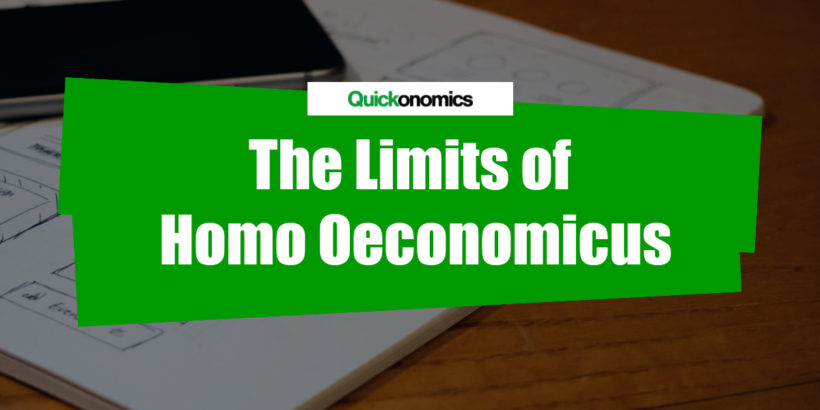 The Limits of Homo Oeconomicus