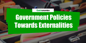 Three Government Policies towards Externalities