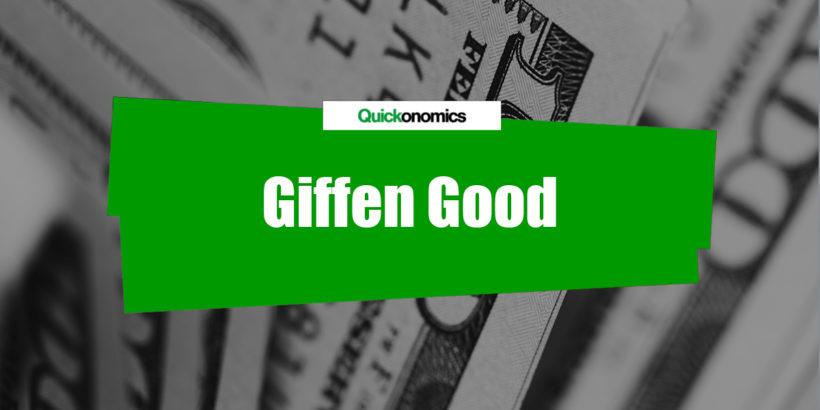 Giffen Good Definition